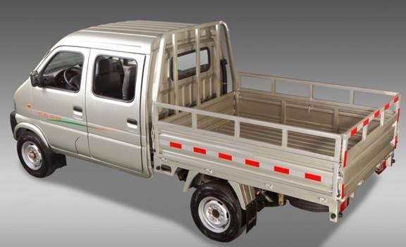 时代微卡双排柴油汽车图片 柴油双排微卡汽车大全,黑豹微卡高清图片